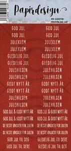 Bilde av Papirdesign - Klistremerker - 2100739 - Gledelig jul, rød