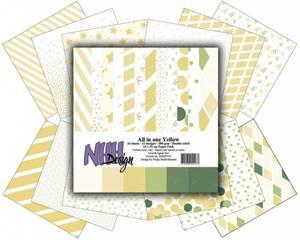 Bilde av NHH Design - Paper pad 15x15 cm - NHHP319 - All in one - Yellow