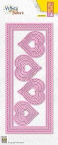 Bilde av Nellie Snellen - MFD142 - Multi Frame Die - Slim Lines - Hearts