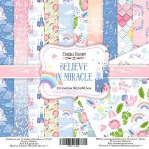 Bilde av Fabrika Decoru - 12x12 paper pack - 01042 - Belive in miracle