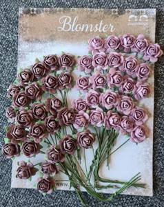 Bilde av Papirdesign - Roser - 1,0cm - Vintage rosa (lilla)