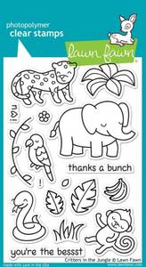 Bilde av Lawn Fawn - LF803 - Clear stamps - Critters In The Jungle