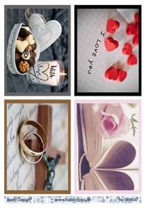 Bilde av Barto Design - Klippeark A4 - 069047 - Love & Hearts