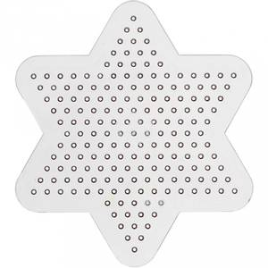 Bilde av Perlebrett - Nabbi Beads - Transparent Stjerne - 9 cm