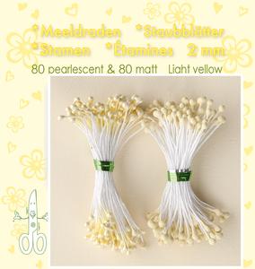 Bilde av Leane Creatief - Stamen - 80 matt & 80 pearl - Light Yellow