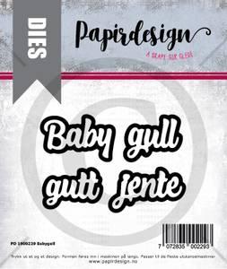 Bilde av Papirdesign Dies PD1900229 - Babygull