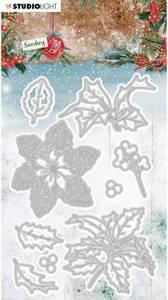 Bilde av Studiolight die - CD50 - Sending Joy - Holly / berries