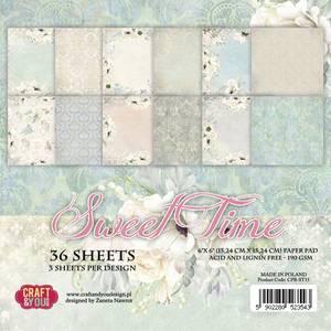 Bilde av Craft & You - ST15 - Sweet Time - 6x6 Paper Pad