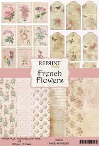 Bilde av Reprint -  A4 - RBP005 - French Flowers Collection Pack A4