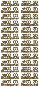 Bilde av Klistremerker - 0190 - Outline stickers - Til Brudeparet - Gull