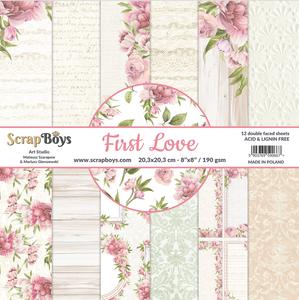Bilde av ScrapBoys - First Love - 8x8 - Paper pad