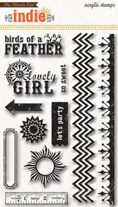 Bilde av My Minds Eye - Clear Stamp - Indie Chic Lovely Girls ICO0155 - G