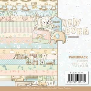 Bilde av Find It - Paperpack 6x6 YCPP10037 - Yvonne - New Born