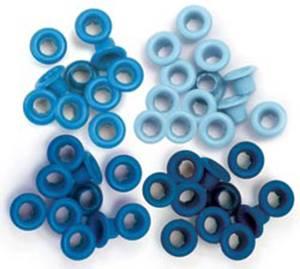 Bilde av We R Memory Keepers - Standard Eyelets - Blue - 60 stk
