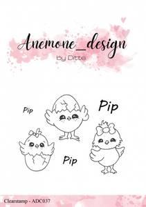 Bilde av Anemone_design - Clearstamp - ADC037 - Kyllinger