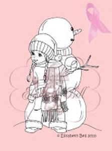 Bilde av Belles 'n Whistles - stamp - Snow Fight Snowbaby (NB Gulnet)