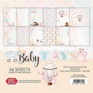 Bilde av Craft & You - BT15 - Baby Toys - 6x6 Paper Pad