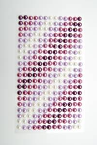 Bilde av Kort & Godt - Stickers - ST-170 - Perle - 6mm - Lillatoner/Hvit