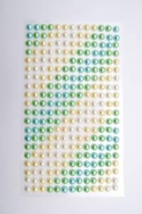 Bilde av Kort & Godt - Stickers - ST-168 - Perle - 6mm - Turkis/grønn/gul