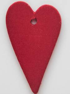 Bilde av Hjerte i tre - 35x56mm - Rød - 5 stk