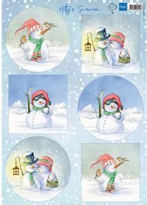 Bilde av Marianne Design - Klippeark HK1705 - Hetty's snowmen