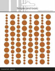 Bilde av Simple and Basic - SBA018 - Enamel Dots - Cognac (orange)