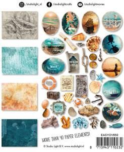 Bilde av Studiolight -   650 - Die Cut Paper Set - Ocean View