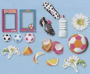 Bilde av Carol Wilson Fine Arts - Die Cuts - Soccer Sisterhood