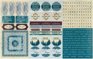 Bilde av Authentique - Cardstock Stickers - 8x12 - SEA018 - WINTER
