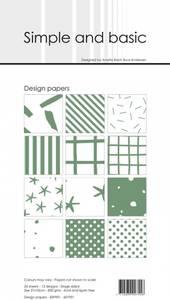 Bilde av Simple and basic - Paper Pack - SBP901 - 10x21cm - Eucalyptus
