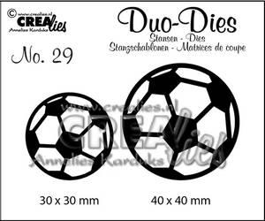 Bilde av Crealies - Dies - Duo-Dies 29 - Soccerballs