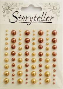 Bilde av Storyteller - Halvperler - ST-009612 - Lys og mørk bronse