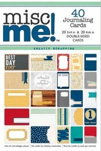 Bilde av BoBunny - Misc Me! JOURNAL PACK CARDS - POP QUIZ - 40 STK