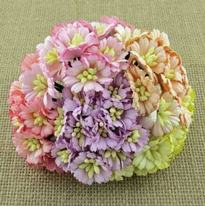 Bilde av Flowers - Cosmo Daisy Flowers - SAA-475 - Mixed Pastel Tone - 50
