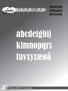 Bilde av By Lene - Dies - BLD1127 - Alphabet (OBS: uten w)