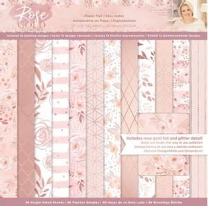 Bilde av Crafter's Companion - Paper Pad 12x12 - Rose Gold