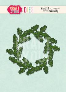 Bilde av Craft & You - Dies - CW093 - Conifer Wreath