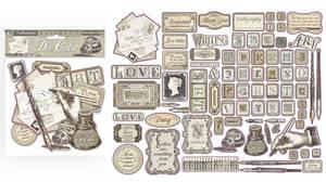 Bilde av Stamperia - Chipboard Die Cuts - 21 - Calligraphy