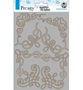 Bilde av Pronty Crafts - Chipboard - A5 - Barok Corners