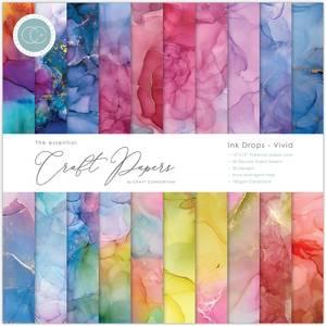 Bilde av Craft Consortium - 12x12 - Essential Paper Pad - Ink Drops Vivid