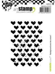 Bilde av Carabelle Studio - Cling stamp - Hearts Background