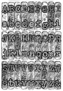 Bilde av Sizzix - 3-D Texture Fades - A6 - 664760 - Typewriter