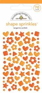 Bilde av Doodlebug - 6705 - Shape Sprinkles - Tangerine