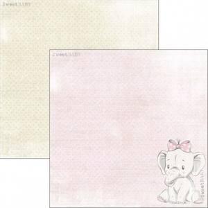 Bilde av Reprint - 12x12 - RP0301 - Sweet Baby - Pink Elephant