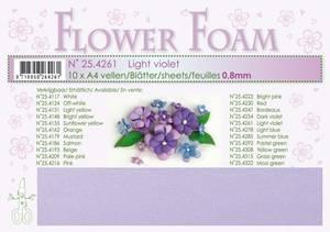 Bilde av Leane Creatief - Flower Foam - A4 - 0.8mm. - Light violet - 1stk