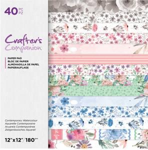 Bilde av Crafter's Companion - Paper Pad 12x12 - Contemporary Watercolour