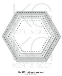 Bilde av Kort & Godt - Die 176 - Heksagon med søm