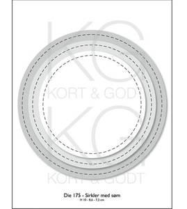 Bilde av Kort & Godt - Die 175 - Sirkler med søm