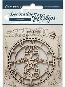 Bilde av Stamperia - Chipboard Decorative Chips - 22 - Time