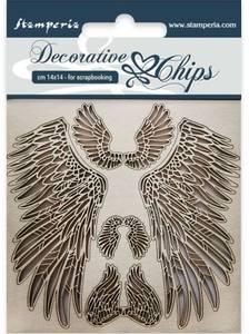Bilde av Stamperia - Chipboard Decorative Chips - 30 - Wings